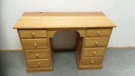 Solid Pine desk, Dressing Table