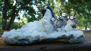 Hand Crafted Penguin Family Peterborough Peterborough Area image 1