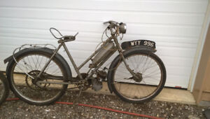 French Solex and British Raleigh motor cycles