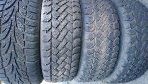 4 pneus hiver 195/60R15