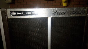 SHURE vocal master PA speakers