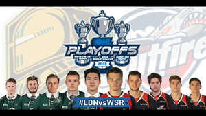 LONDON KNIGHTS Premium Club Seats OHL Playoff Tickets Game Two