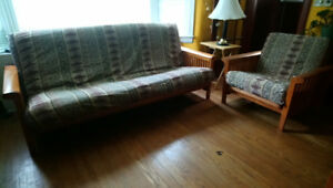 FUTON SOFA AND CHAIR combo (both fold out)