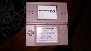Pink DS Lite with the Charger & Pen / Stylus