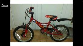 """Boys MX16 Raleigh 16"""" bike"""