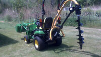 STUMP GRINDING AND POST HOLE DRILLING (Beausejour,Selkirk, area)