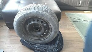 15 in sonw tires with steel rims and wheel cover 4168599300