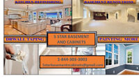 *BARRIE FINISH BASEMENT*KITCHEN CABINET PAINTING*RENOVATIONS