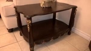 Elegant Dark Walnut Large Side Table for sale