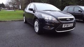 FORD FOCUS TDCi 2008 '58' TITANIUM in Black with 2 Keys, MOT & Full Service History. Not Astra or a3