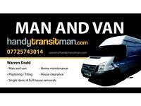 Blackpool man and van 07725743014