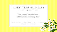 """Lifestyles Maid Easy"" cleaning service..."