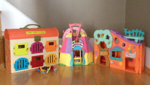 Littlest Pet Shop, Fisher Price Circus, Critter -  play houses