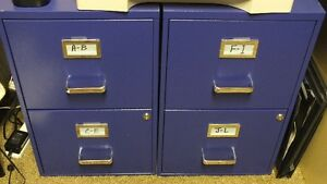 Letter Size Blue Filing Cabinets