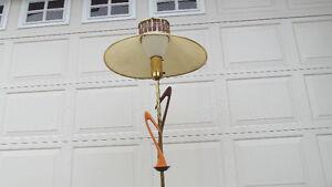 ATOMIC  ERA  TEAK  FLOOR  LAMP