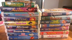 Lot of VHS (kids movies) and a VHS player
