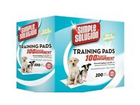 Puppy pee pads and pad holder/tray