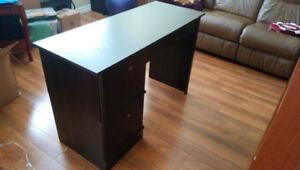 Dark Brown Desk with Storage