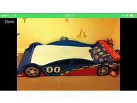 Toddler race car bed with mattrsss