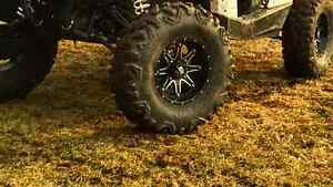 """new 30"""" xd rocktane tires on 14"""" dish can am tires 30x10x14 mud"""
