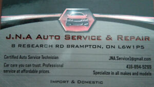 *LICENSE MECHANIC IN BRAMPTON WITH 15 YRS EXPERIENCE*