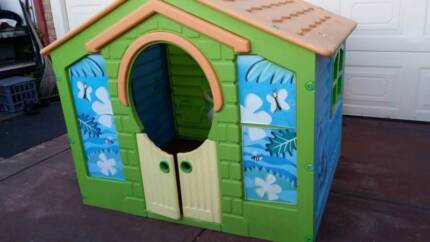 Plastic Cubby House with shutters and barn door - 105cm x 130cm