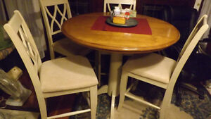 Solid Wood Cafe Table and Chair Set