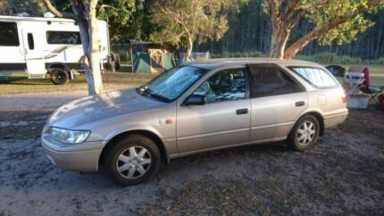 1999 Toyota Camry Wagon Backpacker car with plenty camping gear