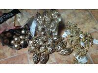 Gold Christmas Bauble, Decoration bundle