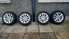 BMW F10/11 alloys with Winter Tyres