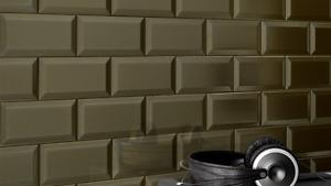 Tuiles à murs fini métallique  3 x 6''