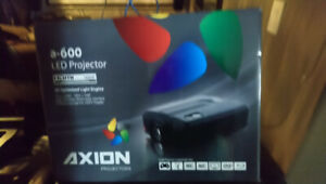 Axion A600 Projector and 80 inch screen