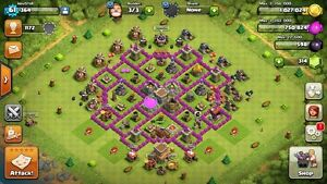 Clash if Clans Town Hall level 8 for sell cheap