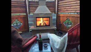 Super durable outdoor fireplace and bbq