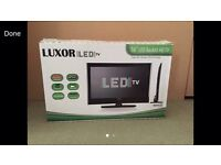 """16""""LUXOR TV/MONITOR 1080 HD MULTIMEDIA PLAYER AND HDMI AND BUILT IN FREE VIEW"""