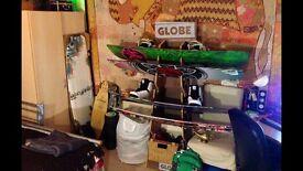 Globe Board Rack Shelves Wood
