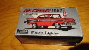 Vintage Red 1957 CHEVY Piezo  Butane  Lighter (New in Box)