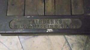 St.Thomas Bond Shed Fairbanks Standard Scale w Weights London Ontario image 3