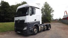 2014 Euro 5 Mercedes-Benz Actros 2545 6x2 mid lift tractor unit