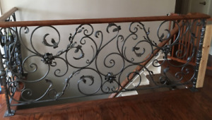 Custom Iron rail - stairs or fence for landscape