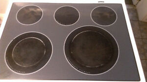 Replacement Range Glass Cooktop Cook Top and frame  WHITE Whirlpool Gold
