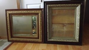 antique picture frame and mirror