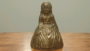 Brass Lady Woman Bell Female Ringing England Victorian