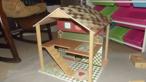 Plan Toys Doll House, Dolls, and Lots of Furniture