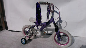 "3-5 year old Girl 's Bike 12"" tires ROAD STAR +TRAINING WHEELS"