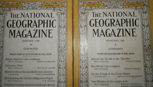 1928 Collection of National Geographic Magazines