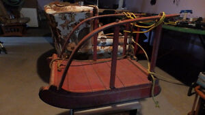 Traîneau ancien à patin(Métal)(Antique)