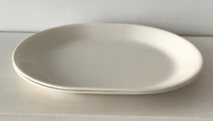 Oval Corningware Serving Platter, Cream colour, 2 available