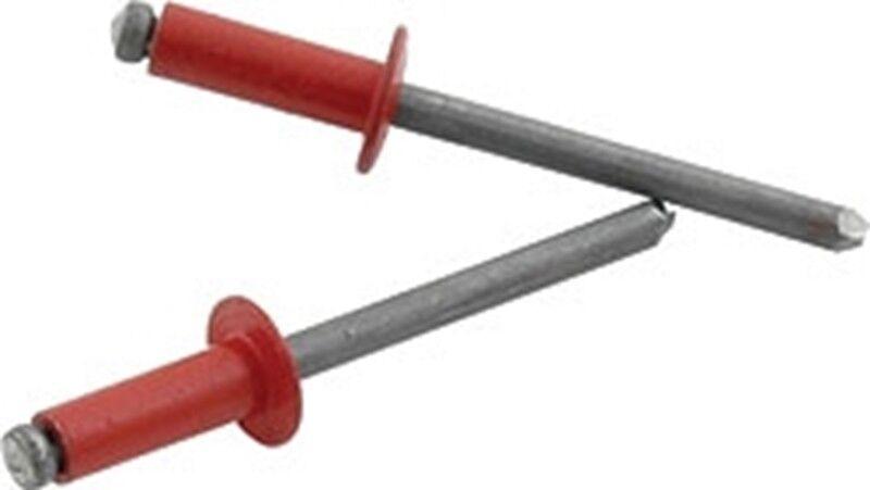 Rivetti Pop Rosso 3.2 x 12 mm-Alluminio menu a discesa Opzioni