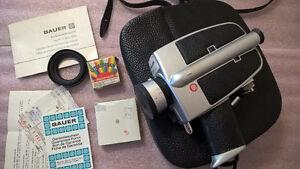 Vintage Bauer C1M Super 8 Movie Camera with Extra Lenses